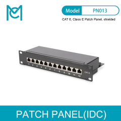 MC CAT 6 Class E Patch Panel Shielded 12-port RJ45 8P8C