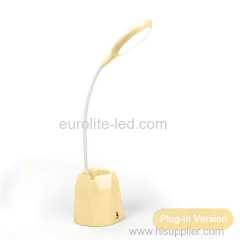 euroliteLED 2.5W Beige Dimmable Multi-use Table Lamp with Pen Holder 3 Gear Touch Control 4000K Eye-Caring Desk Lamp