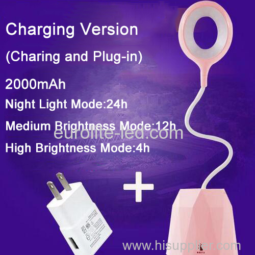 euroliteLED 2.5W Pink Dimmable Multi-use Table Lamp Rechargeable 3 Gear Touch Control 4000K Eye-Caring Desk Lamp