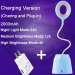 euroliteLED 2.5W Blue Dimmable Multi-use Table Lamp Rechargeable 3 Gear Touch Control 4000K Eye-Caring Desk Lamp