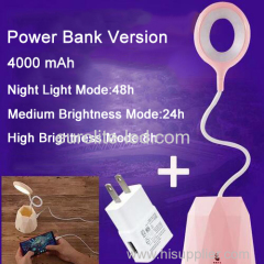 euroliteLED 2.5W Pink Dimmable Multi-use Desk Lamp Rechargeable 4000mAh 3 Gear Touch Control 4000K Eye-Caring Lamp