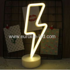 Led Neon Lightning Night Light Fevistal Holiday Decration Light