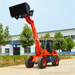 Multifunctional telescopic wheel loader front end shovel loader