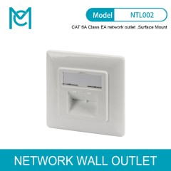 MC CAT 6A Class EA Network Outlet Design Compatible Shielded Surface Mount