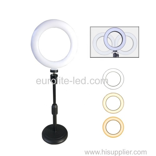 euroliteLED 10inch Led Ring Light Photography Ring Lamp for Make up and Live Stream