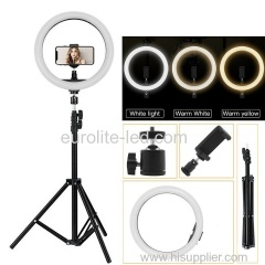euroliteLED 14 Inch Ring light Photography Ring Lamp Makeup LED with Stand Hot Shoe for Camera and Smart Phone