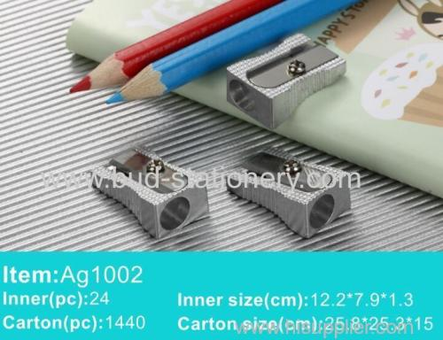 Aluminum alloy single hole pencil sharpener