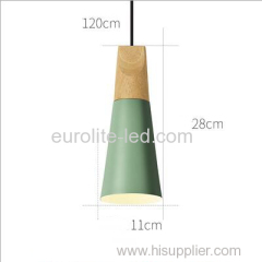 euroliteLED 9W Green Single-Head LED Chandelier Nordic Modern Pendant Lamp Hanging Wire 120cm Freely Adjustable