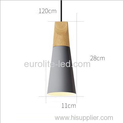 euroliteLED 9W Gray Single-Head LED Chandelier Nordic Modern Pendant Lamp Hanging Wire 120cm Freely Adjustable