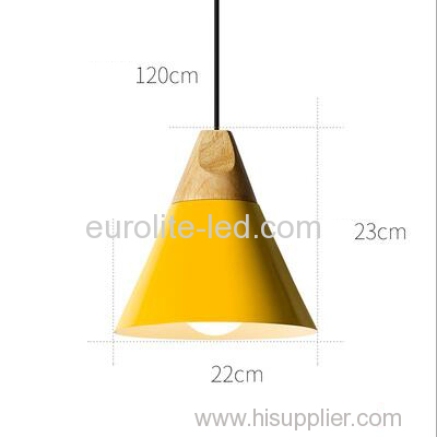 euroliteLED Yellow Single-Head LED Chandelier Nordic Modern Simplicity Pendant Lamp Hanging Wire 120cm Freely Adjustable