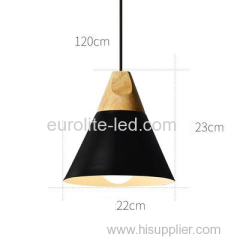 euroliteLED Black Single-Head LED Chandelier Nordic Modern Simplicity Pendant Lamp Hanging Wire 120cm Freely Adjustable