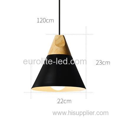 euroliteLED Black Single-Head LED Chandelier Nordic Modern Simplicity Pendant Lamp Hanging Wire 120cm Freely Adjustable
