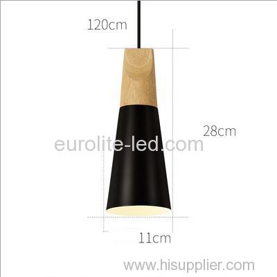 euroliteLED 9W Black Single-Head LED Chandelier Nordic Modern Pendant Lamp Hanging Wire 120cm Freely Adjustable