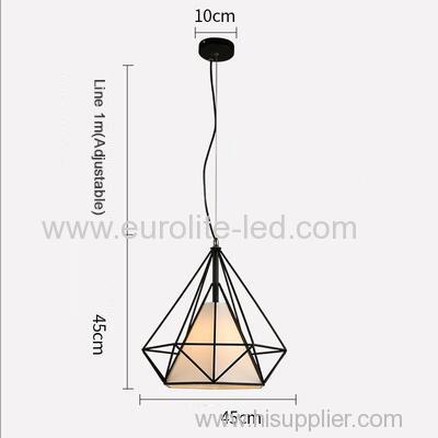 euroliteLED 12W 45cm White Iron Art Chandelier Nordic Creative Living Room Lights Bedroom Restaurant Illumination