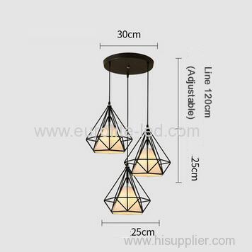 euroliteLED White Chandelier-Iron Art 3 Holder Chandelier Nordic Ceiling Lights Bedroom Restaurant Illumination