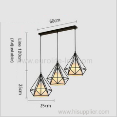 euroliteLED White LED Chandelier Iron Art 3 Holder Chandelier Nordic Ceiling Lights Bedroom Restaurant Illumination