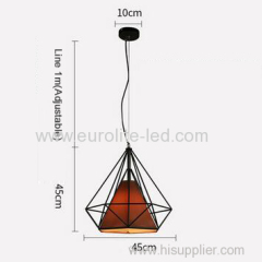 euroliteLED 12W 45cm Brown Iron Art Chandelier Nordic Creative Living Room Lights Bedroom Restaurant Illumination
