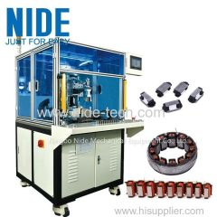 Automatic open pole segment stator coil winding machine with 3 needles winding for sale