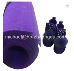woolfelt 100% 1*1m woolfelt sheet 5mm colored wool felt