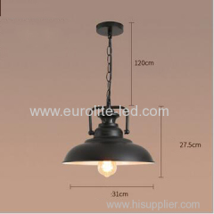 euroliteLED 40W Black Retro Hanging Lamp Vintage Loft Industrial Ceiling Light Black Pendant Lamp Iron Hanging Lamp