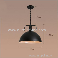 euroliteLED 10W Black L Vintage Lighting Retro Pendant Lamp Iron Shade Industrial Chandelier