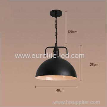 euroliteLED 10W Black L Vintage Lighting Retro Pendant Lamp Iron Shade Industrial Chandelier