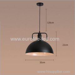euroliteLED 10W Black M Vintage Lighting Retro Pendant Lamp Iron Shade Industrial Chandelier