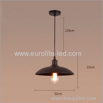 euroliteLED 40W S Industrial Rustic Pendant Light Fixture Antique Hanging Light