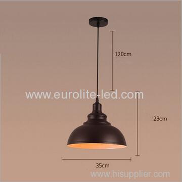 euroliteLED 10W M Metal Industrial Pendant Light Vintage Barn Hanging Lamp Modern Iron Ceiling Light Dining Room Lamp