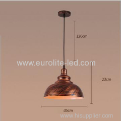euroliteLED Bronze 10W M Industrial Pendant Light Vintage Barn Hanging Lamp Modern Iron Ceiling Light Dining Room Lamp