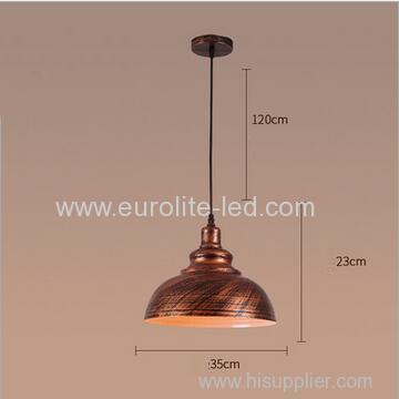 euroliteLED Bronze 10W M Industrial Pendant Light Vintage Barn Hanging Lamp Modern Iron Ceiling Light Dining Room Lamp