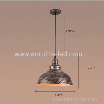 euroliteLED Silver 10W L Industrial Pendant Light Vintage Barn Hanging Lamp Modern Iron Ceiling Light Dining Room Lamp