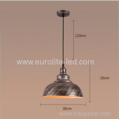euroliteLED Silver 10W S Industrial Pendant Light Vintage Barn Hanging Lamp Modern Iron Ceiling Light Dining Room Lamp