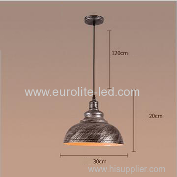 euroliteLED Silver 10W S Industrial Pendant Light Vintage Barn Hanging Lamp Modern Iron Ceiling Light Dining Room Lamp