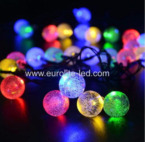 Led Solar Powered String Transparent Bubble Decoration Night Light