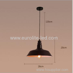 euroliteLED 40W Black S Industrial Vintage Adjustable Pendant Light