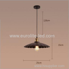 euroliteLED S Interior Iron Umbrella Lampshade Light Industrial Vintage Pendant Lamp Antique Creative Lotus Chandelier