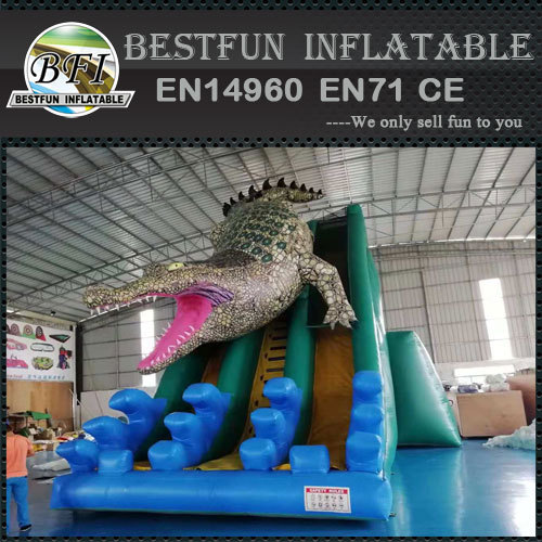 New Style Inflatable Crocodile Belly Slide