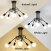 euroliteLED 3Head White Wrought Iron Ceiling Lamp Creative Personality Spider Chandelier Living Room Bedroom Led Light