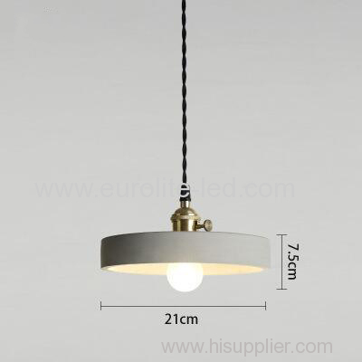euroliteLED 21*7.5CM Retro Cement Single Head Chandelier Creative Bar Small Ceiling Light Suspension Lamp