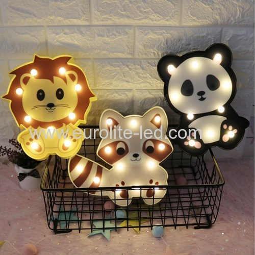 Led Plastic Animal Lovely Christmas Party Decoration Night Light