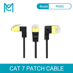MC CAT 6A Elbow Superfine SLIM Patch Cable Black