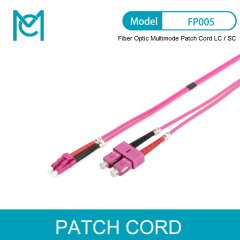 MC FO Patch Cord Duplex LC to SC MM OM4 50/125 Fiber Optic Multimode Patch Cord