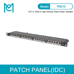 MC CAT 6 Patch Panel Unshielded 24-port RJ45 with Shutter 8P8C LSA 0.5U