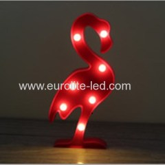 Led Plaslic Flamingo Loveiy Party Kids Decoration Night Light