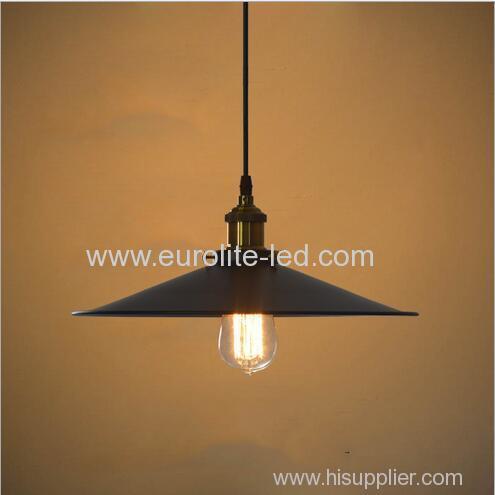 euroliteLED Wrought Iron Small Chandelier Retro Vintage Industrial Pendant Light with UFO Iron