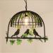 euroliteLED Single Head Black Traditional Birdcage Pendant Lighting Creative Chandelier Vintage Loft Metal Ceiling Lamp