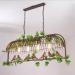 euroliteLED Four Head Bronze Traditional Birdcage Pendant Lighting Creative Chandelier Vintage Loft Metal Ceiling Lamp