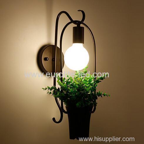 euroliteLED Creative Potted Green Plant Wall Lamp LED Wall Lamp E27 Stylish and Refined