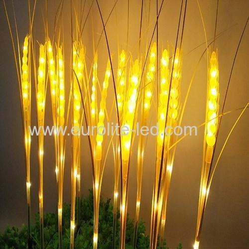 Led Solar Powered Wheat Spike Outdoor Waterproof Decoration Garden Street Light